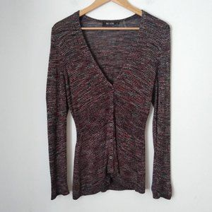 Nic + Zoe V Neck Light Button Sweater Cardigan